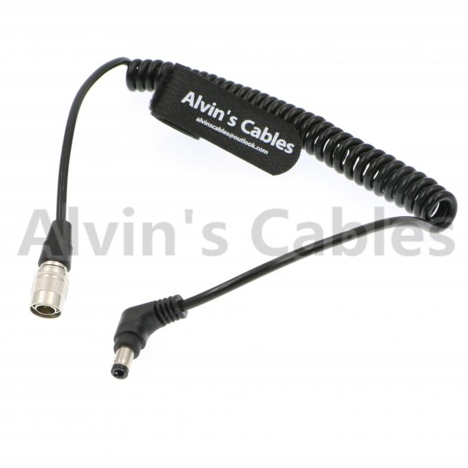 Alvin's Cables Hirose 4 Pin Male to Right Angle DC Jack for Blackmagic Sound Devices 633/644/688 Zoom F8
