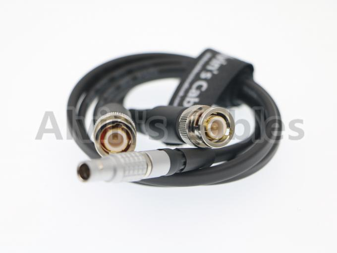 XL-LB2 Lemo 5 Pin To BNC Timecode Cable 80cm Or Customized Length Multilayer Shielding