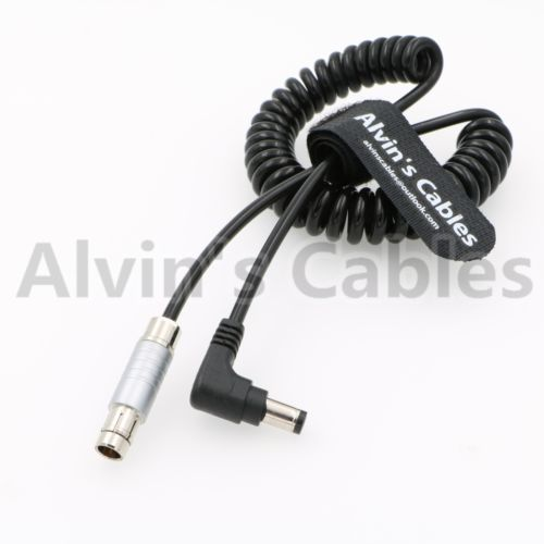 3 Pin Male To Right Angle DC Coiled Power Cable For Tilta Cameras