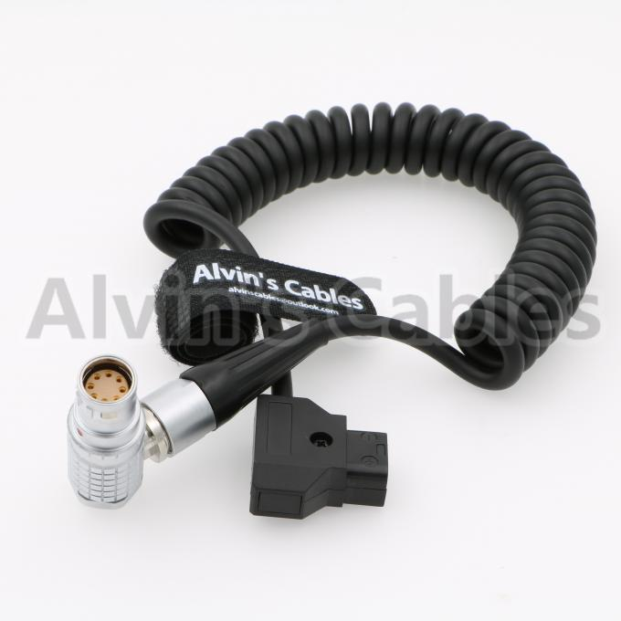 Arri Alexa Mini Camera Coiled Power Cable Lemo Right Angle 8 Pin Female To D - Tap