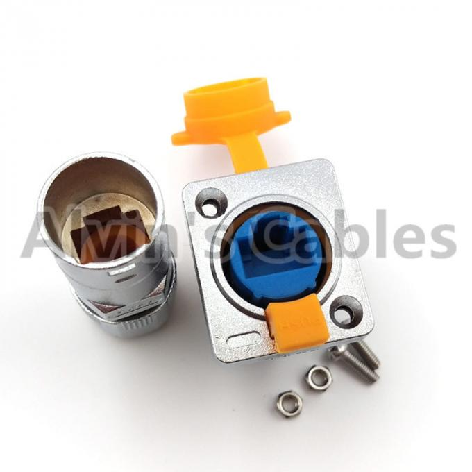 90 Degree Elbow RJ45 Circular Connector Waterproof Ethernet Connector Long Service Life