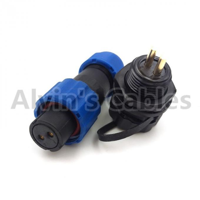Outdoor Waterproof Plastic Cable Connector IP68 Rating 13-28mm Outer Diameter
