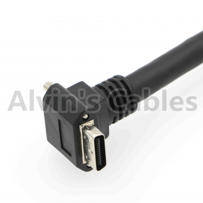 Ultra Flex Camera Link Cable Right Angle SDR 26 Pin To Linear SDR 26 Pin