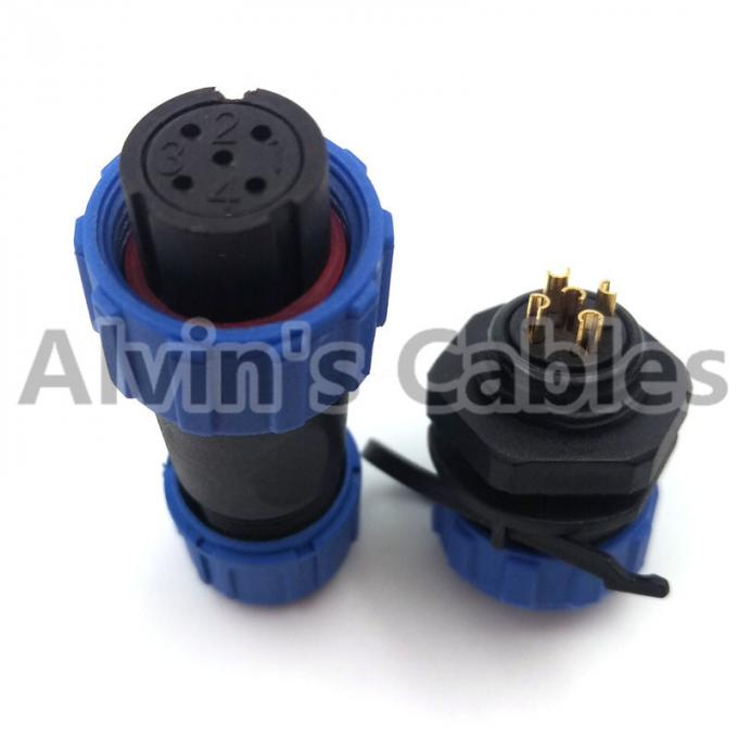 SP13 Series Aviation Connector , Waterproof Electrical Connectors Copper Conductor