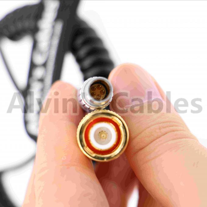 Light Weight BNC To 5 Pin Lemo Timecode Cable For Arri Mini / Sound Devices Zaxcom