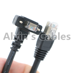 China Basler Cameras GigE Cat6 Cables , GigE Data Cables Right Angle / Linear Shape supplier
