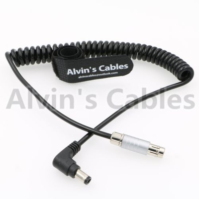 China 3 Pin Male To Right Angle DC Coiled Power Cable For Tilta Cameras factory