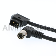 China ANTON BAUER D-Tap to 4 PIN Hirose Right Angle Male Power Cable for Sound Devices factory