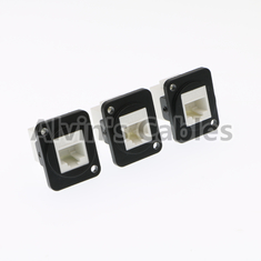 China Panel Mount Waterproof RJ45 Connector Ethernet Cat6 Connection Type factory