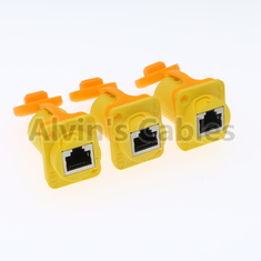 IP65 Ethernet Waterproof RJ45 Connector Plug / Unplug Connecting Mode 1.5A