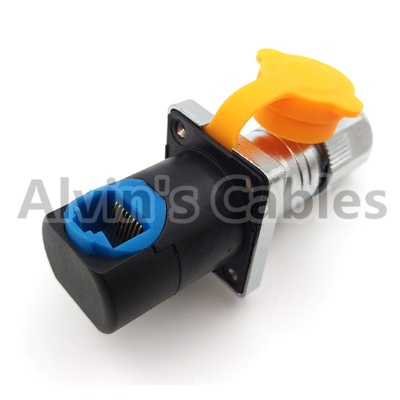 China 90 Degree Elbow RJ45 Circular Connector Waterproof Ethernet Connector Long Service Life factory