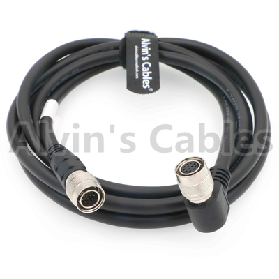 China Right Angle 12 Pin Hirose Female to Male Original Shield Cable for Sony Camera factory
