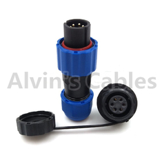 SD13 Waterproof Plastic Electrical Connectors 5 - 25A Rated Current Solder Termination