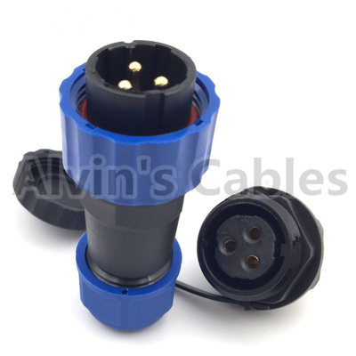 China SD20 TP ZM 2 - 14 Pin Plastic Electrical Connectors Male Plug Female Socket Connector factory