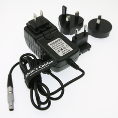 Alvin's Cables Teradek Power Adapter Converter Cable 2 Pin to Universal AC with US UK EU AU Plugs for Teradek Cube Holly