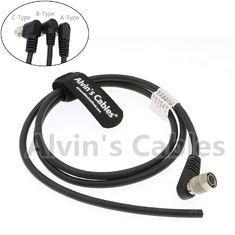 China Trigger Strobe PWS Camera Power Cable TIS GigE Camera Hirose 6 Pin Female Right Angle To Open End A Type factory