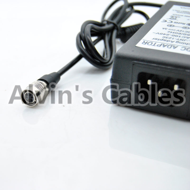 Industrial Basler Camera Power Adapter 12V 3A 6pin Female Hirose Black Color supplier
