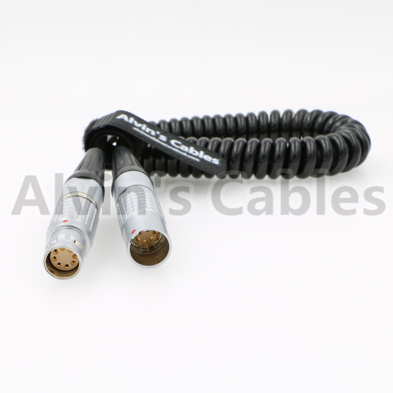 Arri Alexa Mini Camera Extension Coiled Power Cable Lemo 8 Pin Female To Male supplier