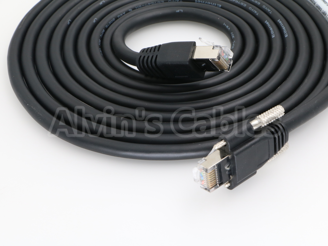 High Flex Cable : Gige vision high flex cat cable thumbscrew lock for ccd