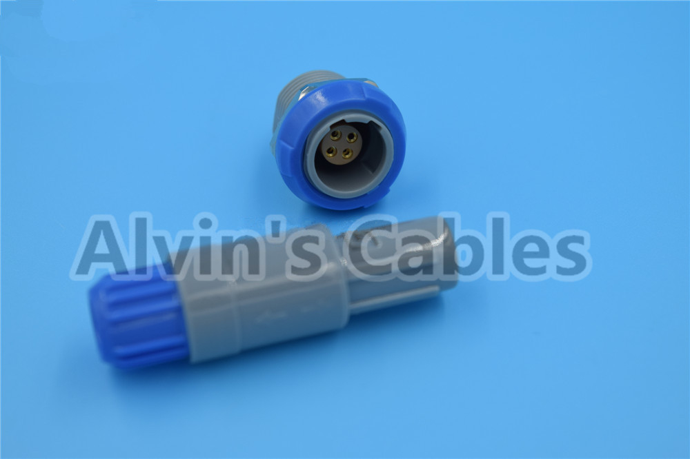 1 P Connector 4 Pin LEMO PAB / PLB Connector M0.4GL Wholesale And Retail Pin Connector Plugs / Sockets supplier