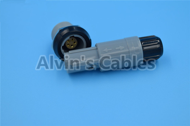 LEMO Connector 1 P Plastic PAC / PLC 80 Degree Pins Positioning 5 Pin Medical Accessories supplier