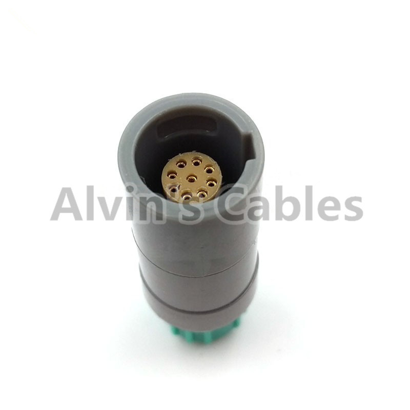 Plastic Lemo 9 Pin Plug 9 Pin Connector Medical Compatible Lemo PRG Push Pull Connector M.09.PLLC39A