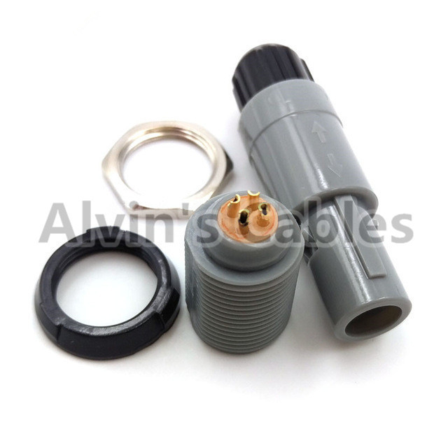 Lemo 1 P Series 4 Pin Connector Plug / Plg Medical Accessories 4 Pin Connector Single Positioning Pin Circular Plastic supplier