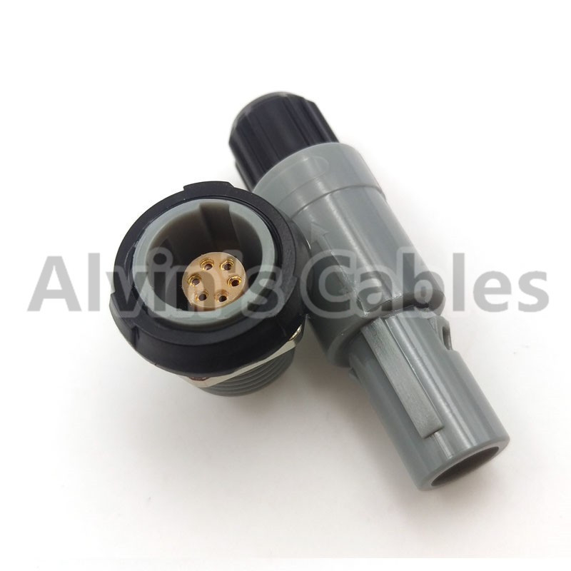 Compatible 6 Pin LEMO Connector Plug And Grip , LEMO PAG / PLG Series 6 Pin Power Connector Cable Connector supplier
