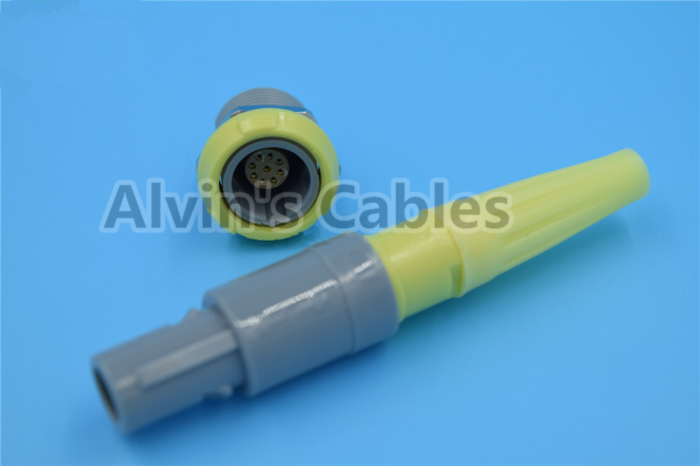 9 Pin LEMO Connector PAG / PLG Dedicated Beauty Tool Connector Swaddled Color Choice supplier