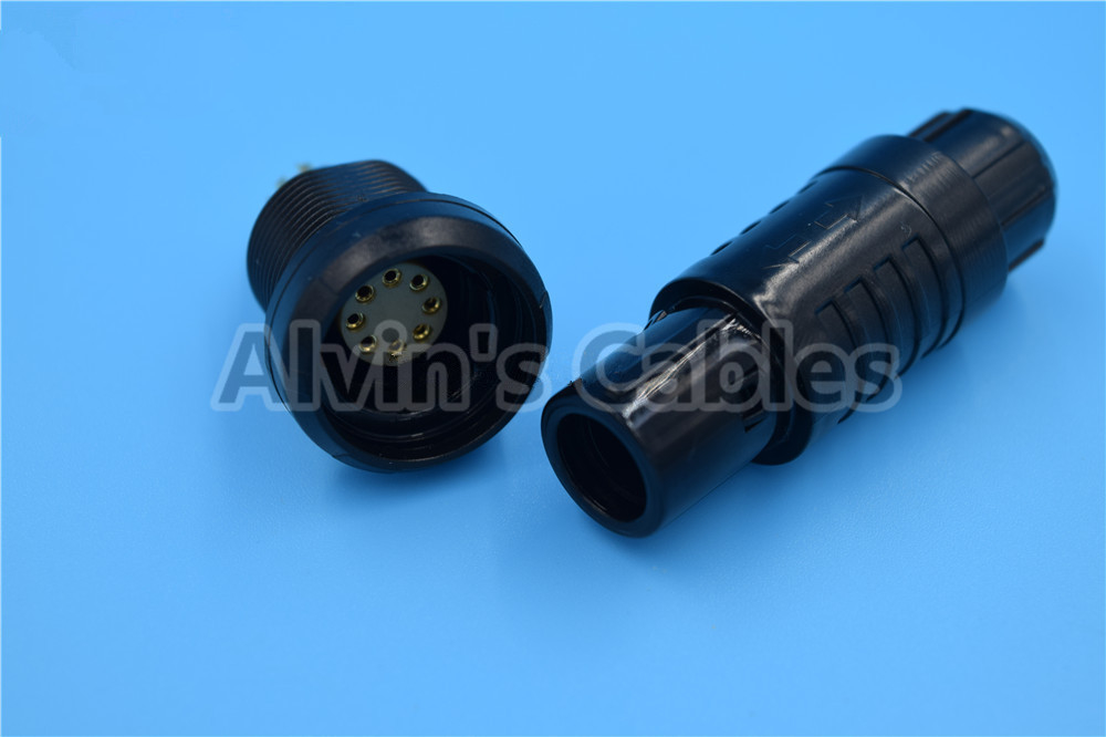 Medical 8 Pin Plastic Electrical Connectors Quick Push Pull Self Locking System supplier