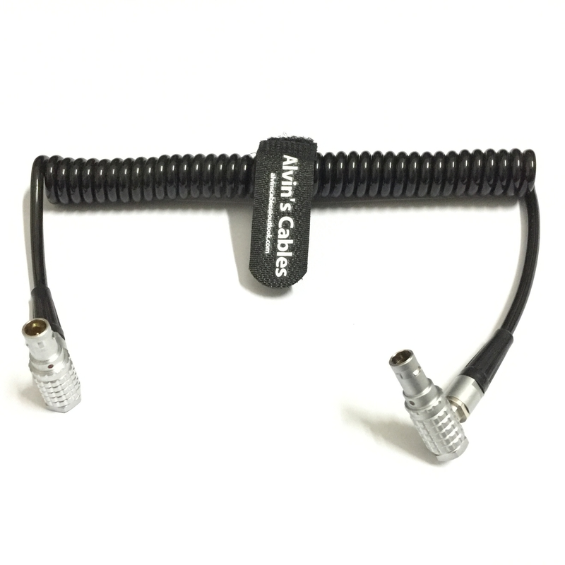 2 Pin Right Angle Coiled Twist Cable Power Teradek Bond ARRI Alexa Camera supplier