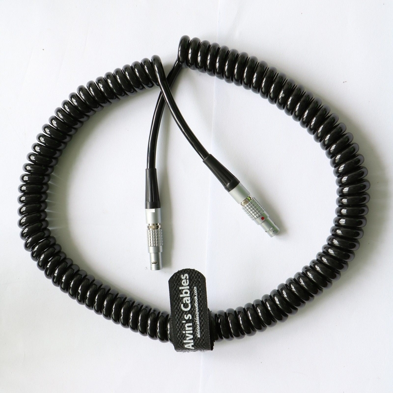 4 Pin Male To 4 Pin Male Coiled Twist Cable For Teradek Bond ARRI Alexa Camera supplier