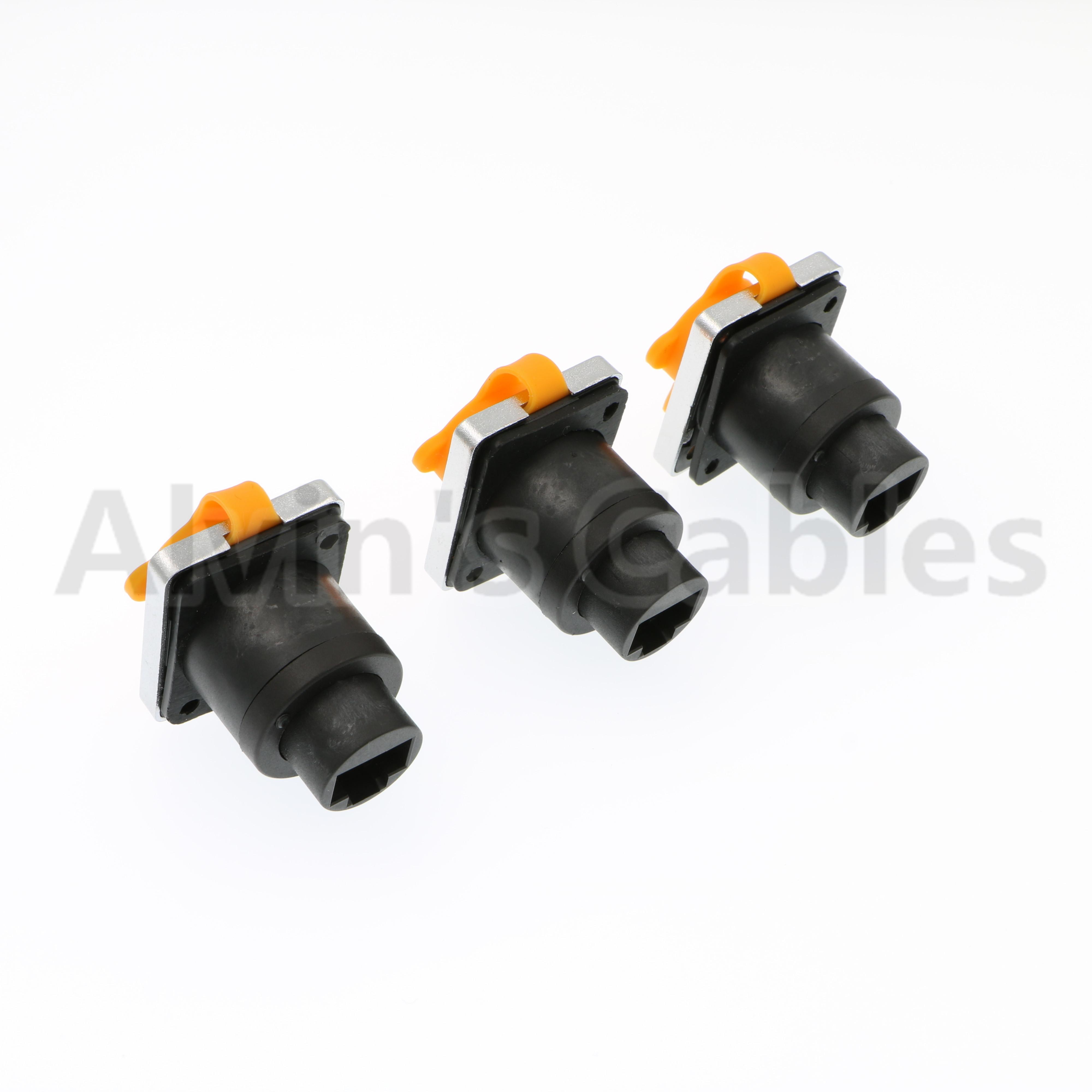 Alvins Cables 3 PCS RJ45 Waterproof Connector Plug IP65 Ethernet Panel Mount RJ45 Connector