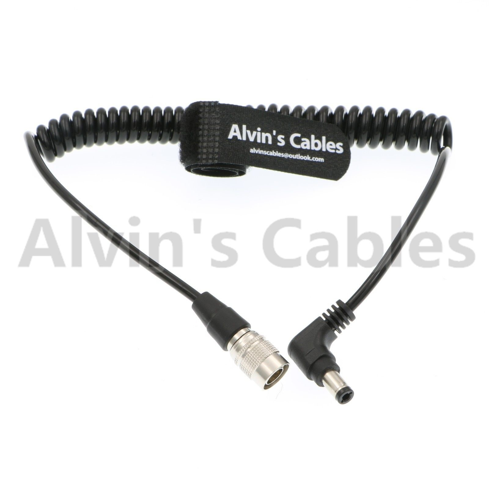 Alvins Cables 4 Pin Hirose Male to Right Angle DC Jack for Sound Devices 633//644//688 Zoom F8 Blackmagic Cinema Camera 4K