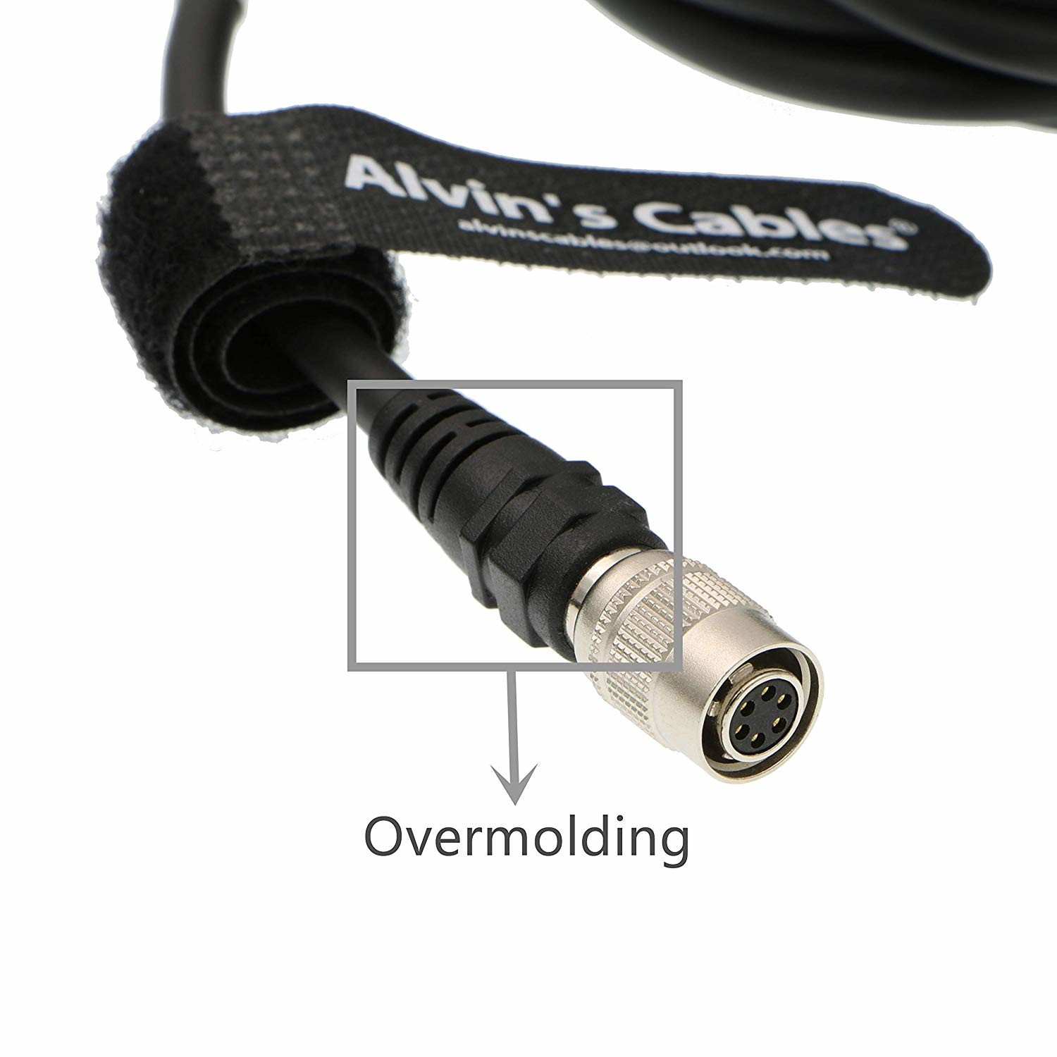 MCCAMSTORE 6Pin Hirose Female Cable Connector for Basler GIGE AVT CCD Camera Trigger Cable High Flex 2ft = 60cm