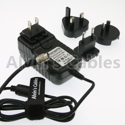 China Sound Devices Universal Power Adapter , AC Power Adapter Hirose 4 Pin Male Connector distributor