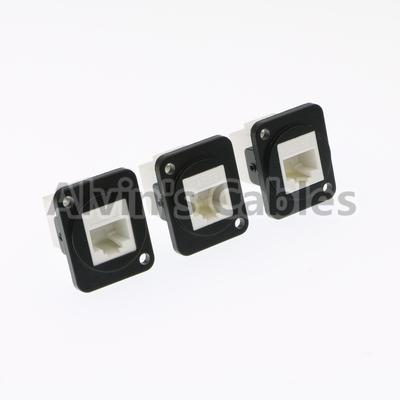 China Panel Mount Waterproof RJ45 Connector Ethernet Cat6 Connection Type distributor